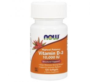 Vitamina D3 - 10,000 IU - Now Foods 120 softgels