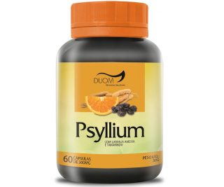 Psyllium com Laranja, Ameixa e Tamarindu - Duom 60caps