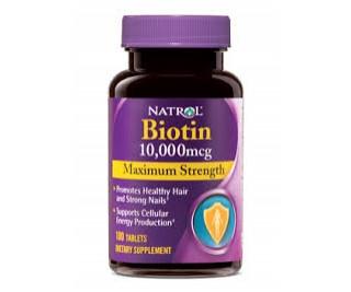 Biotina 10,000mcg - Natrol 100 tabletes