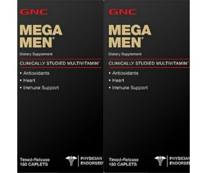 2 Multivitamínico Mega Men 180 tabletes - GNC