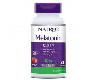 Melatonina 10mg - Natrol 60 comprimidos | Mastigável sabor morango